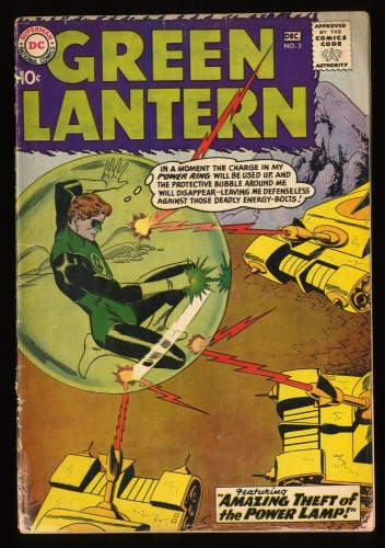 Green Lantern #3 GD 2.0 JLA Ad! DC Comics