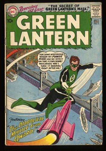 Green Lantern #4 VG 4.0 Secret Green Lantern's Mask! DC Comics