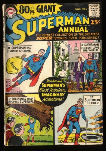 80 Page Giant #1 VG 4.0 Superman Annual!