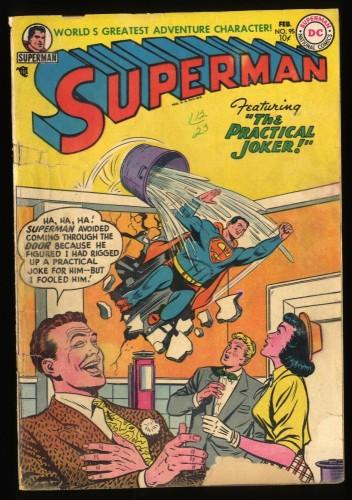 Superman #95 FA/GD 1.5 Practical Joker!