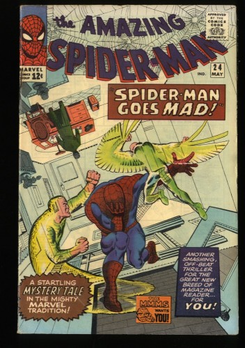 Amazing Spider-Man #24 VG/FN 5.0 3rd Mysterio! Marvel Comics Spiderman