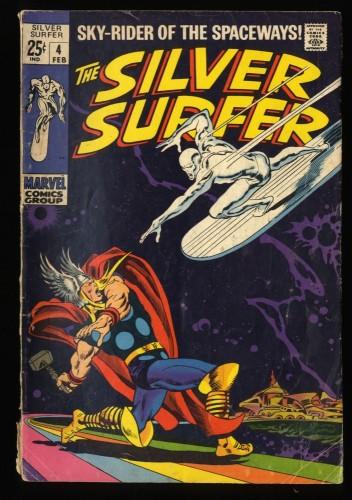 Silver Surfer #4 VG- 3.5 vs Thor! Marvel Comics