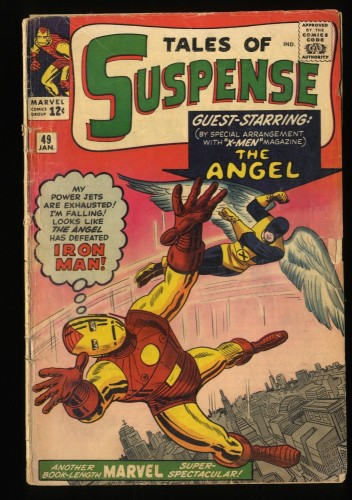 Tales Of Suspense #49 GD 2.0 1st X-Men Crossover! Iron Man