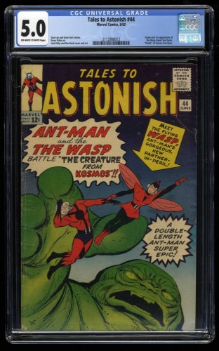 Tales To Astonish #44 CGC VG/FN 5.0 1st Wasp! giant ant man hulk