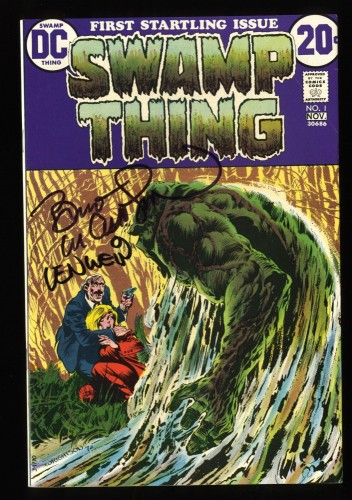 Swamp Thing #1 FN/VF 7.0 White Pages Signed by Bernie Wrightson and Len Wein!