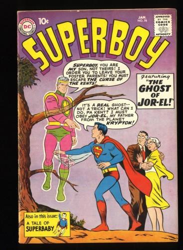 Superboy #78 FN- 5.5 DC Comics Superman