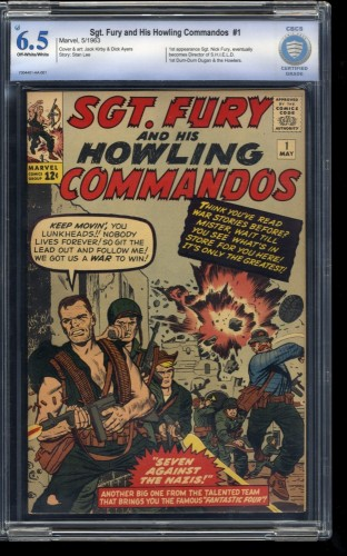 Sgt. Fury and His Howling Commandos #1 CBCS FN+ 6.5 Looks VF 8.0!
