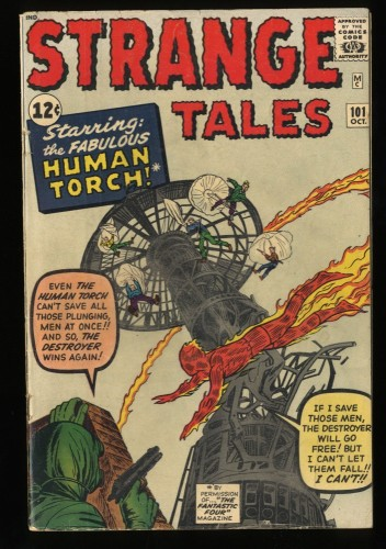 Strange Tales #101 VG+ 4.5 Marvel Comics Nick Fury Doctor Strange Torch