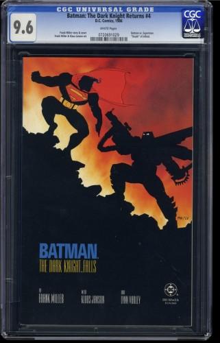 Batman: The Dark Knight Returns #4 CGC NM+ 9.6 White Pages