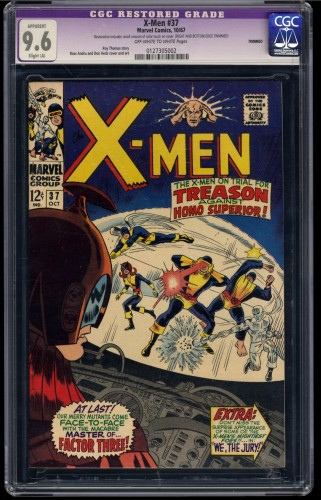 X-Men #37 CGC NM+ 9.6 Off White to White 1st Mutant Master! Trimmed