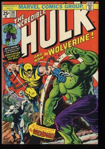 Incredible Hulk (1968) #181 VF- 7.5 1st Wolverine! Marvel Comics