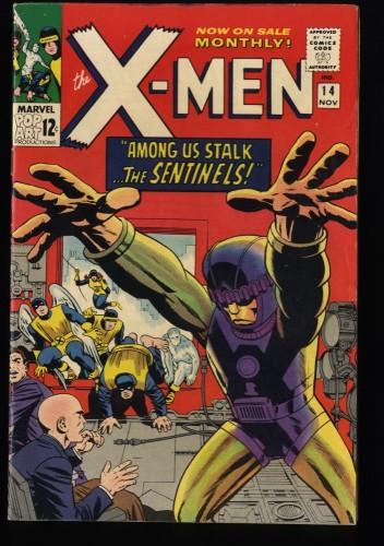 X-Men #14 FN+ 6.5 1st Sentinels! Marvel Comics