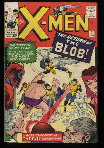 X-Men #7 FN 6.0 Blob! Marvel Comics