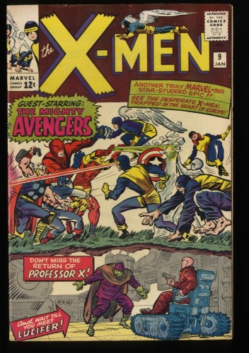 X-Men #9 FN 6.0 1st Lucifer! Marvel Comics