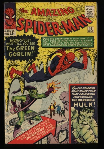 Amazing Spider-Man #14 FN/VF 7.0 1st Green Goblin! Marvel Comics Spiderman