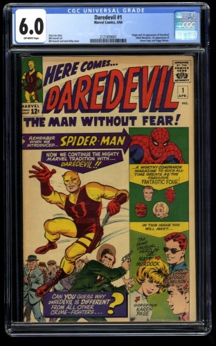 Daredevil #1 CGC FN 6.0 Off White Marvel Comics
