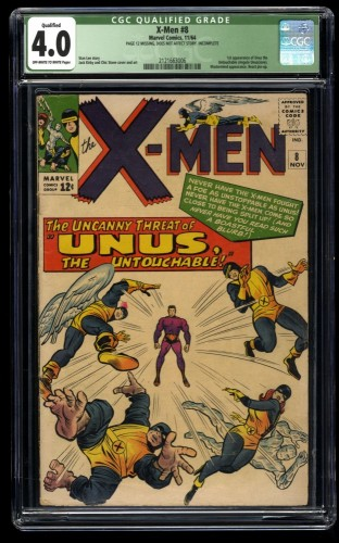 X-Men #8 CGC VG 4.0 Off White to White (Qualified) Marvel Comics