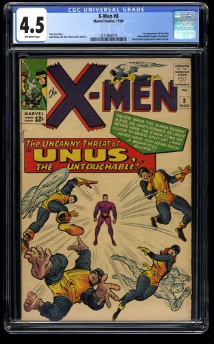 X-Men #8 CGC VG+ 4.5 Off White Marvel Comics
