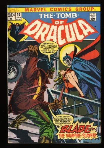 Tomb Of Dracula #10 FN+ 6.5 1st Blade! Marvel Comics