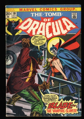 Tomb Of Dracula #10 VG+ 4.5 1st Blade! Marvel Comics