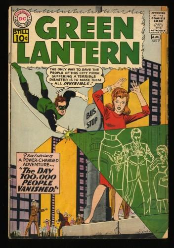 Green Lantern #7 GD/VG 3.0 1st Sinestro! DC Comics