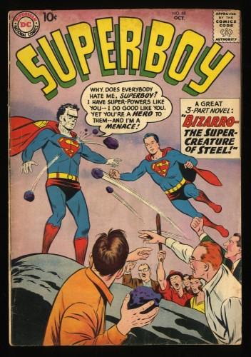 Superboy #68 VG- 3.5 1st Bizarro! DC Comics Superman