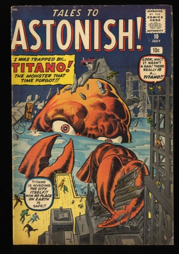 Tales To Astonish #10 VG 4.0 Pre-Hero Monster Cover Titano!