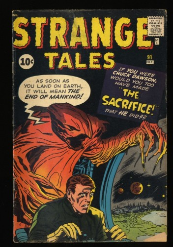 Strange Tales #91 GD/VG 3.0 Marvel Comics