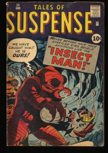 Tales Of Suspense #24 GD 2.0 Pre-Hero Monster Cover Insect Man!