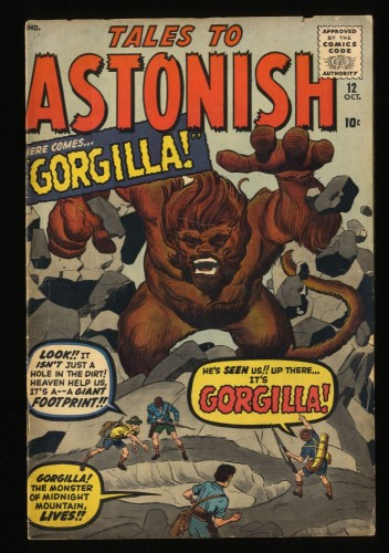 Tales To Astonish #12 VG 4.0 Pre-Hero Monster Cover Gorgilla!