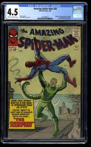 Amazing Spider-Man #20 CGC VG+ 4.5 Cream To Off White 1st Scorpion!