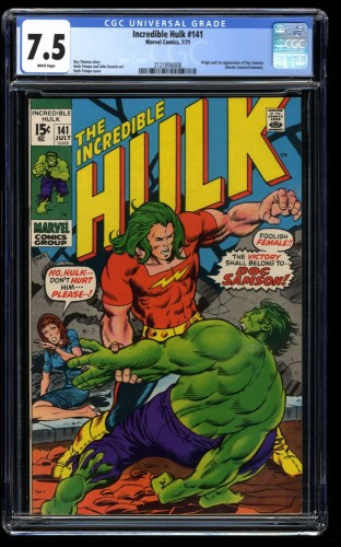 Incredible Hulk (1968) #141 CGC VF- 7.5 1st Doc Samson! Marvel Comics