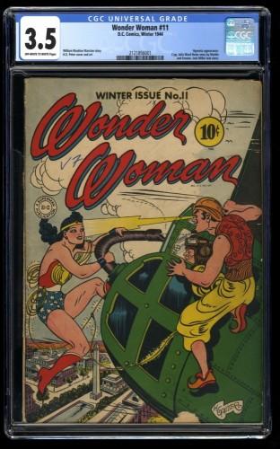 Wonder Woman #11 CGC VG- 3.5 Off White to White 1st Hypnota!