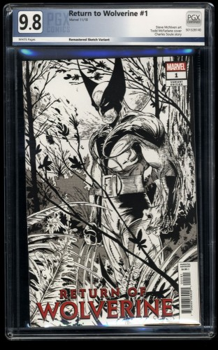Return of Wolverine #1 PGX NM/M 9.8 White Pages Remastered Sketch Variant!