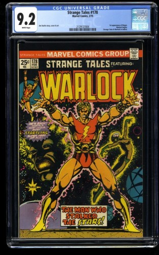 Strange Tales #178 CGC NM- 9.2 White Pages Adam Warlock 1st Magus!