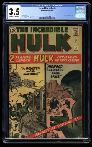 Incredible Hulk (1962) #4 CGC VG- 3.5 Off White to White