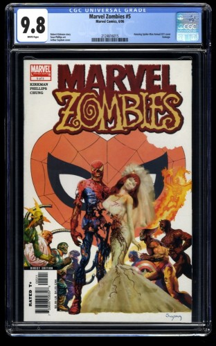 Marvel Zombies #5 CGC NM/M 9.8 White Pages Suydam Variant!