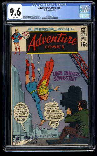 Adventure Comics #391 CGC NM+ 9.6 White Pages DC Superman