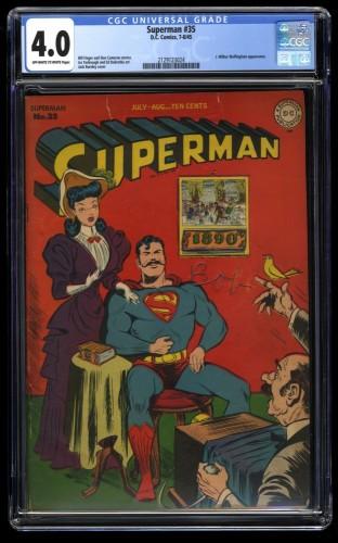 Superman #35 CGC VG 4.0 Off White to White