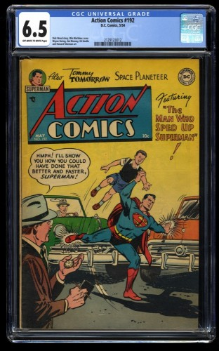 Action Comics #192 CGC FN+ 6.5 Off White to White Tommy Tomorrow!  Congo Bill!