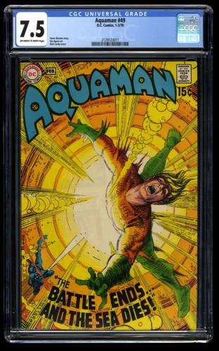Aquaman #49 CGC VF- 7.5 Off White to White