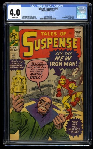 Tales of Suspense #48 CGC VG 4.0 Off White 1st Gold Armor! Iron Man