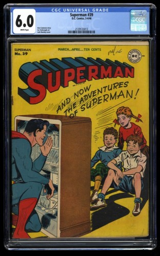 Superman #39 CGC FN 6.0 White Pages