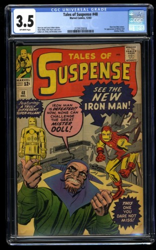 Tales of Suspense #48 CGC VG- 3.5 Off White 1st Gold Armor! Iron Man