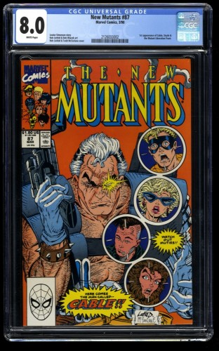New Mutants #87 CGC VF 8.0 White Pages 1st Cable!