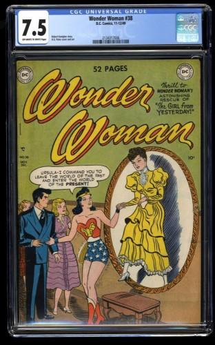 Wonder Woman #38 CGC VF- 7.5 Off White to White