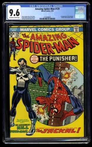 Amazing Spider-Man #129 CGC NM+ 9.6 Off White to White 1st Punisher!