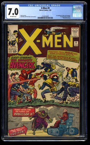 X-Men #9 CGC FN/VF 7.0 Off White 1st Lucifer! Marvel Comics