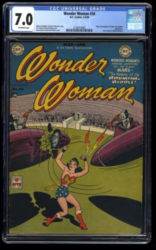 Wonder Woman #34 CGC FN/VF 7.0 Off White