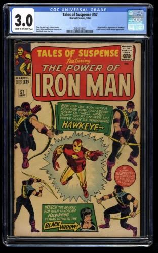 Tales of Suspense #57 CGC GD/VG 3.0 Cream To Off White 1st Hawkeye! Iron Man
